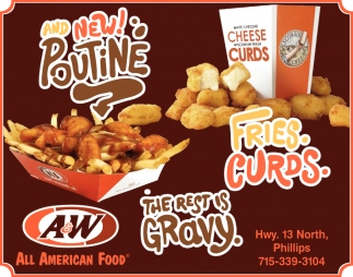 Pountine, Fries, Curds