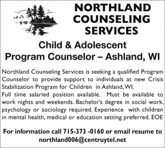Child & Adolescent Program Counselor