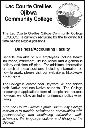 Business/Accounting Faculty