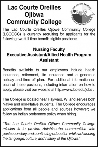 Nursing Faculty Executive Assistant/Allied Health Program Assistant