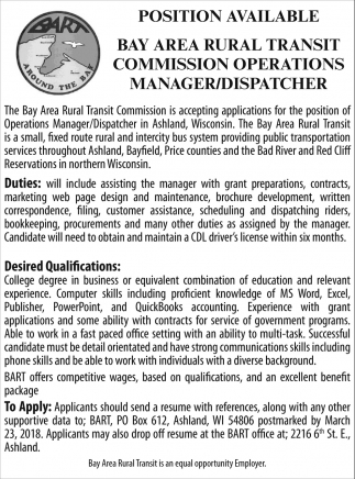 Manager / Dispatcher