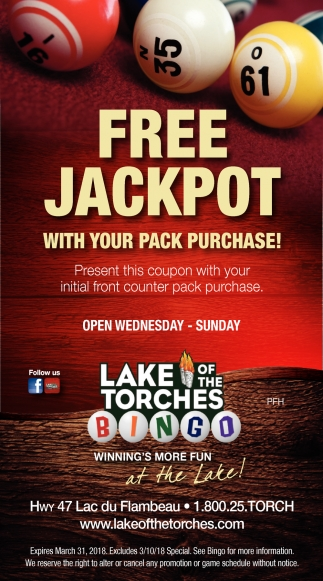 FREE Jackpot with your pack purchase!