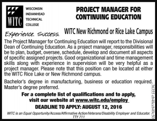 PROJECT MANAGER FOR CONTINUING EDUCATION