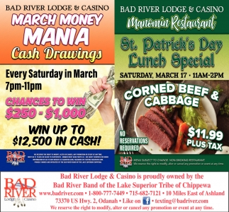 March Money Mania / St. Patrick's Day Lunch Special
