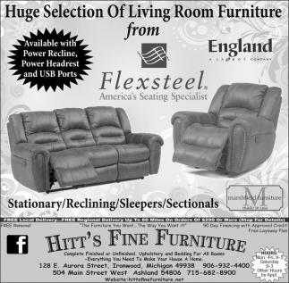 Living Room Furniture from Flexsteel, Hitt\'s Fine Furniture, Ashland, WI