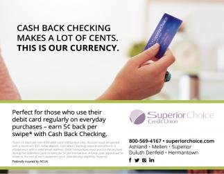 Cash Back Checking