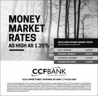 Excellence Money Market Rates
