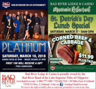 Platinum / Manomin St. Patrick's Day Lunch Special