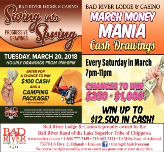 Swing into Spring / March Money Mania
