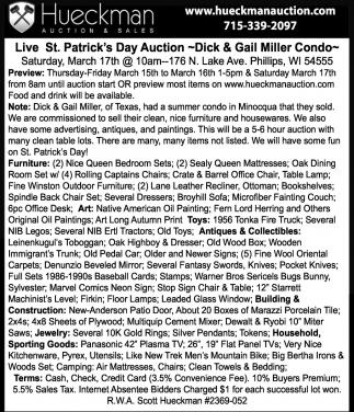 Live St. Patrick's Day Auction