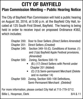 Plan Commission Meeting