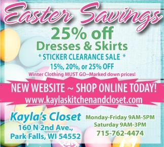 Easter Savings