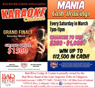 Karaoke Contest / Mania Cash Drawings