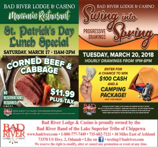 Manomin St. Patrick's Day Lunch Special / Swing into Spring