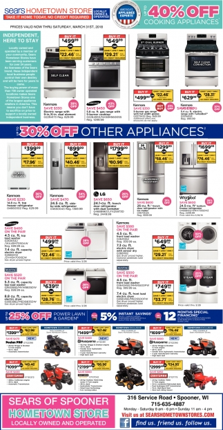 40% off cooking appliances