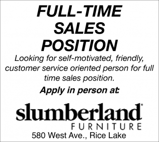 Sales Position Slumberland Furniture Wausau Wi