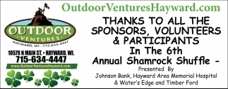 Thanks to all in the 6th Shamrock Shuffle