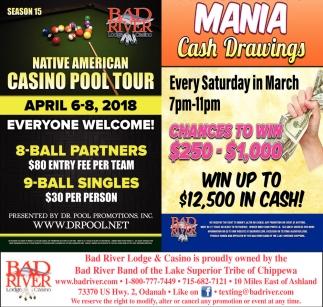 Native American Casino Pool Tour / Mania Cash Drawings