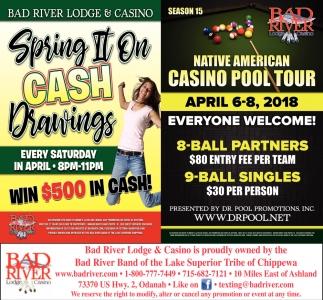 Spring II On Cash Drawings / Native American Casino Pool Tour