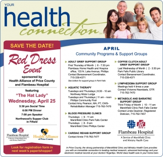 April Community Programs & Support Groups