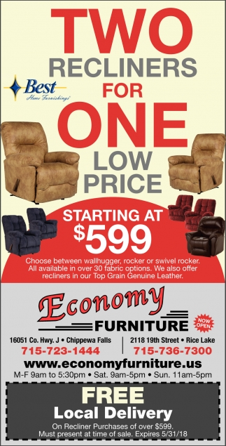 Furniture sale advertisement Furniture Pepperfry Istock Two Recliners For One Economy Furniture Rice Lake Wi