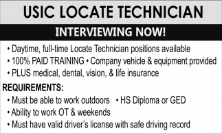 Usic Locate Technician