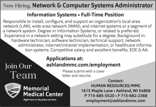 Network & Computer Systems Administrator