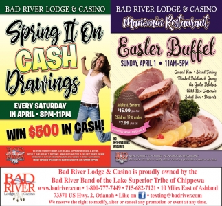 Spring II On Cash Drawings / Easter Buffet