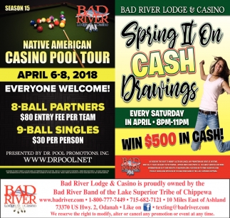Native American Casino Pool Tour / Spring II On Cash Drawings