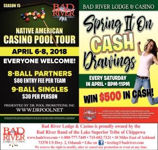 Native American Casino Pool Tour / Spring II On Cash Drawings