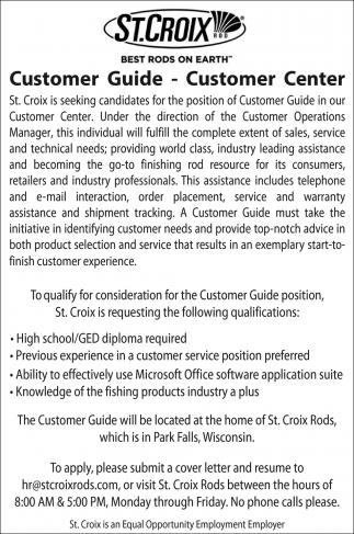 Customer Guide - Customer Center