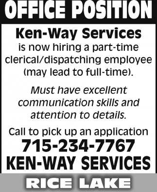Clerical / Dispatching Employee