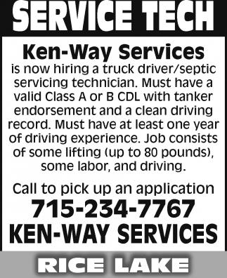 Truck Driver / Septic Servicing Technician