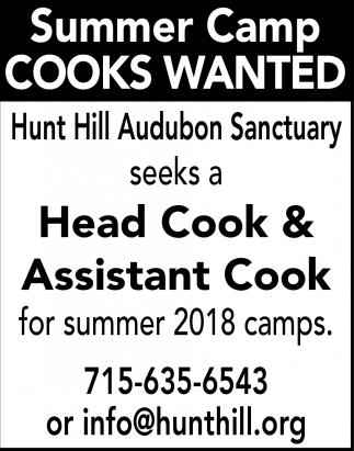 Head Cook & Assistant Cook