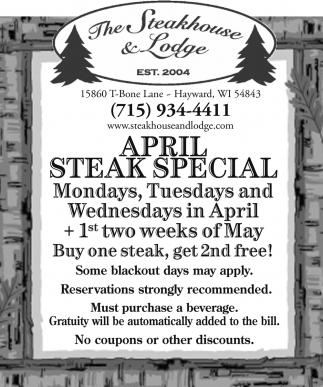 April Steak Special
