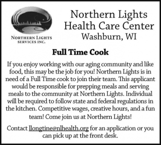 Full Time Cook