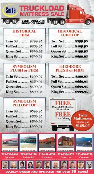 Serta Truckload Mattress Sale