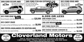 Ford Escape, Ford F150, Ford Edge