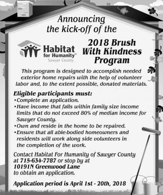 2018 Brush with Kidness Program