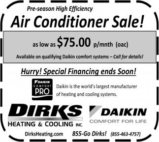 Air Conditioner Sale!