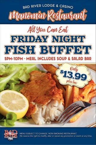Manomin Restaurant Friday Night Fish Buffet