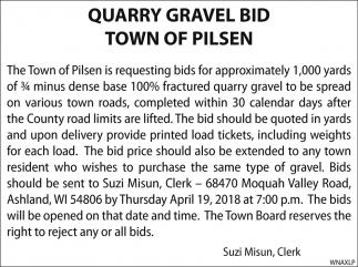 Quarry Gravel Bid