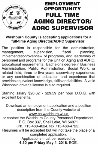 Aging Director / ADRC Supervisor