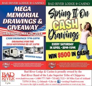 Mega Memorial Drawings & Giveaway / Spring It On Cash Drawings