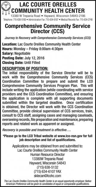 Comprehensive Community Service Director (CCS)
