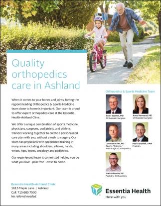 Orthopedics & Sport Medicine Team