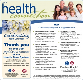 May Community Programs & Support Groups
