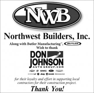 Wish to thank Don Johnson Auto Group