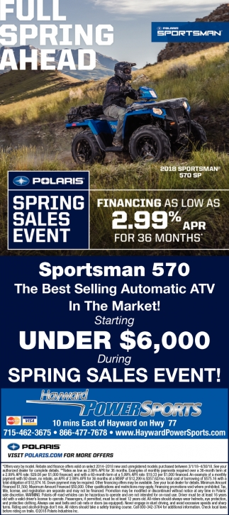 Polaris Spring Savings
