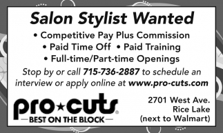 Salon Stylist Wanted